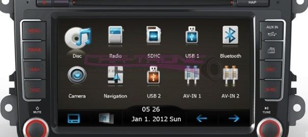 Montaż stacji multimedialnej Adayo CE4KC8 w VW Tiguan z Parktronic + kamera cofania